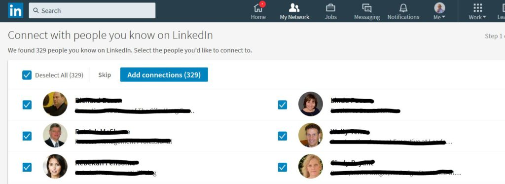 Connect with people you know on LinkedIn