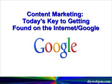Content Marketing | Key To Getting Found On Google