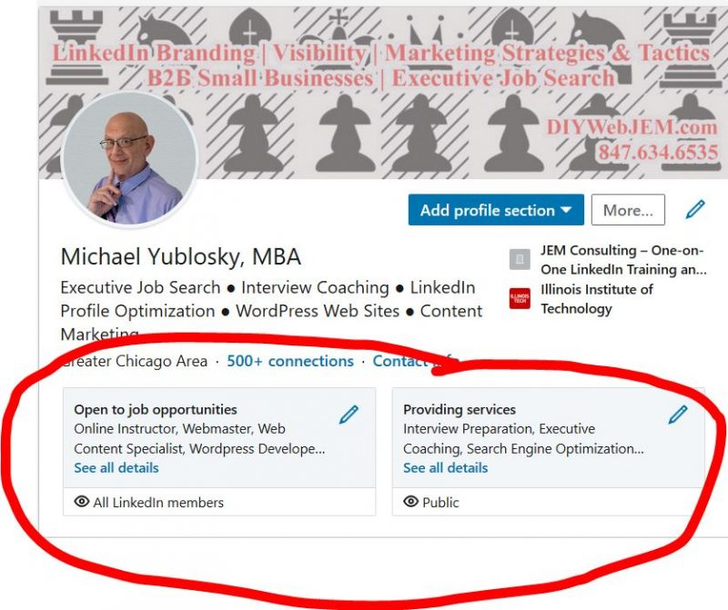 New LinkedIn Profile Highlight Box